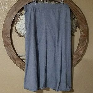 Gray Maxi Skirt Long cotton womens XL stretch grey